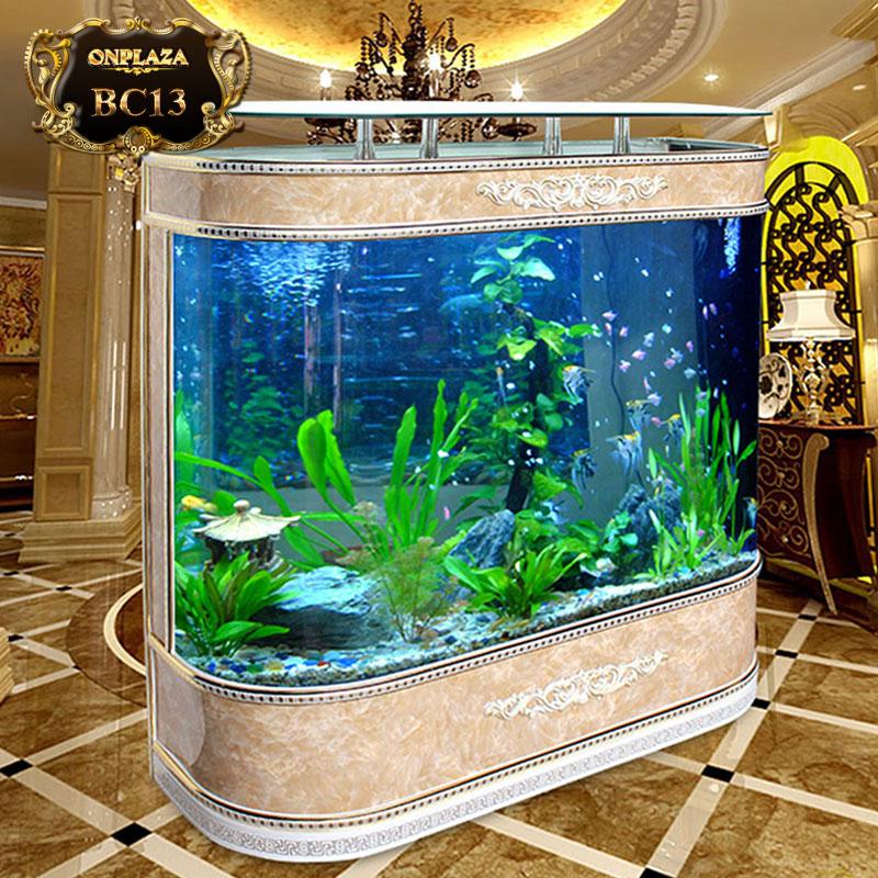 Bể cá thủy sinh chạm hoa văn phong cách Châu Âu cao cấp BC13-1-1