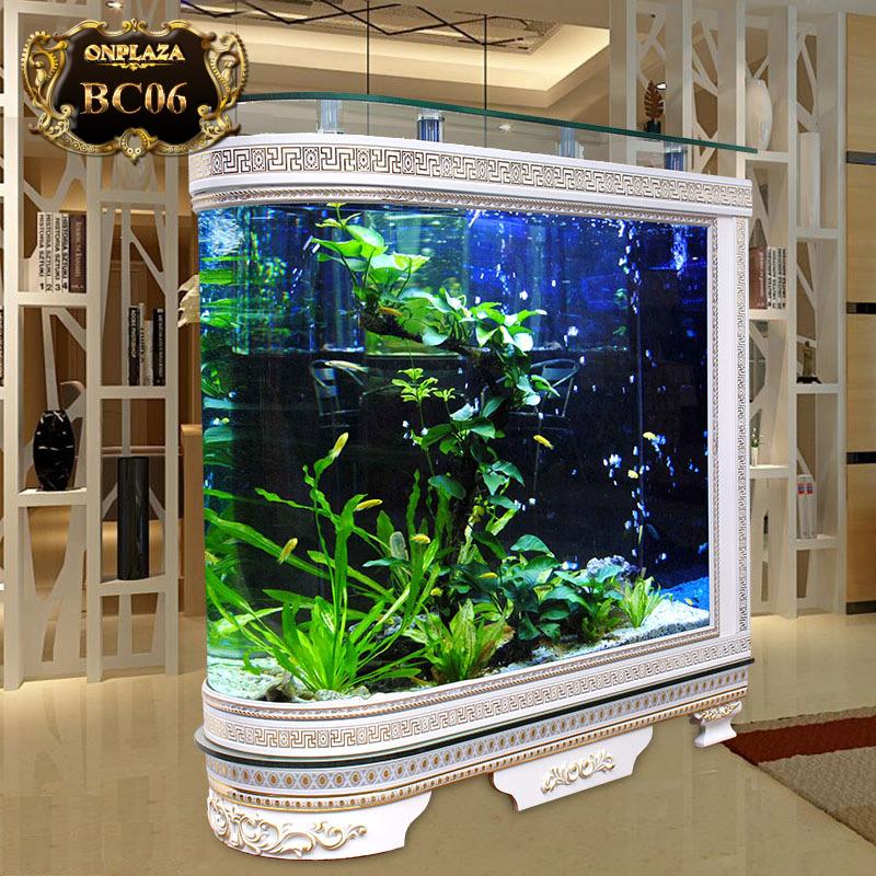 Bể cá thủy sinh chân tủ chạm khắc hoa văn cao cấp BC06