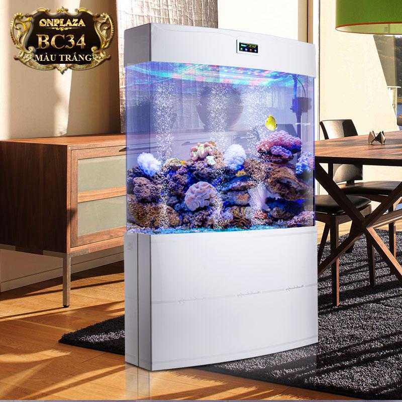 Bể cá thủy sinh thông minh đa chức năng cao cấp BC34 trắng
