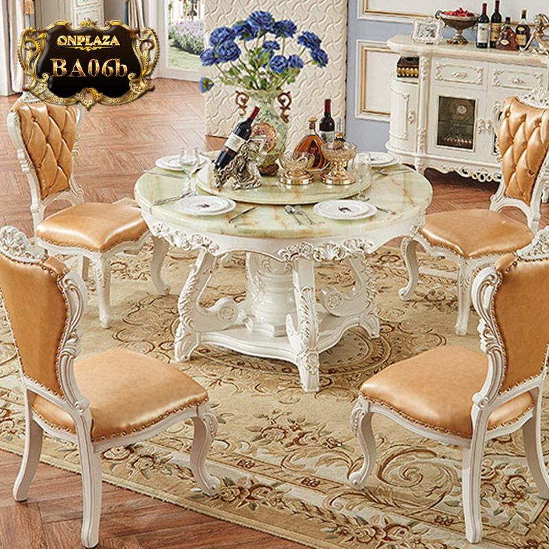 Bộ bàn ăn 4 ghế  kiểu bàn tròn xoay BA06b