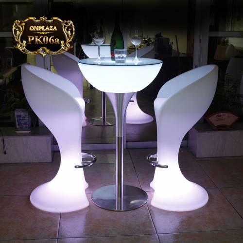 Bộ bàn ghế LED cao cấp cho quầy bar/ cafe hiện đại PK06
