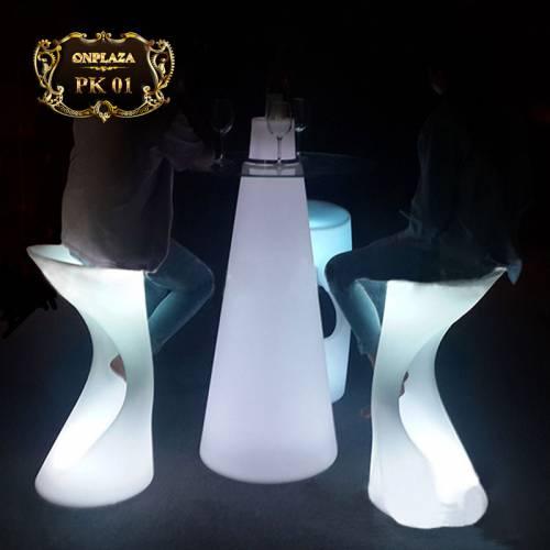 Bộ bàn ghế LED cao cấp cho quầy bar hiện đại PK01