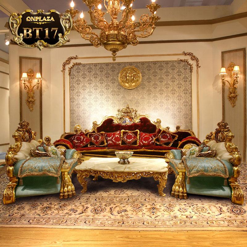 Bộ bàn ghế sofa bọc nệm phong cách hoàng tộc BT17