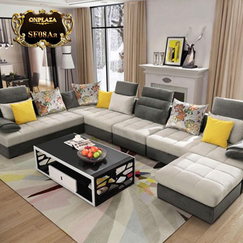 Bộ bàn ghế sofa hiện đại cho phòng khách SF08Aa