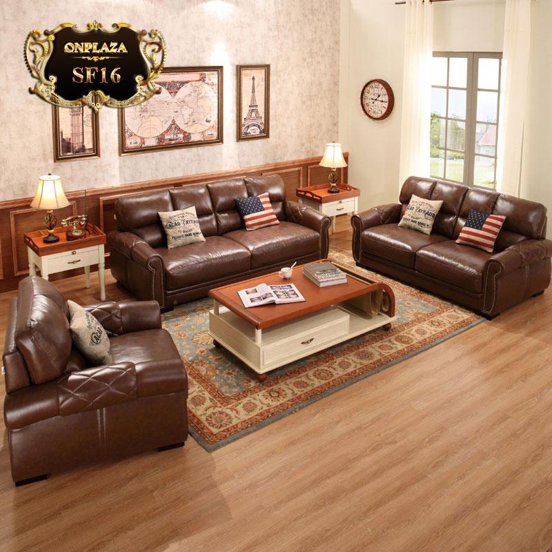Bộ sofa đẹp dành cho phòng khách biệt thự hạng sang SF16