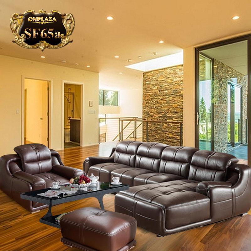 Sofa cao cấp bọc da, mua sofa bọc da đẹp cho phòng khách
