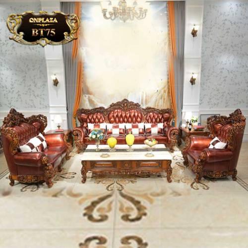 Bộ bàn ghế sofa nhập khẩu đẳng cấp cho nhà biệt thự BT75