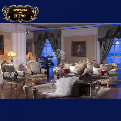 Bộ bàn ghế sofa cao cấp theo phong cách tân cổ điển Châu Âu BT90