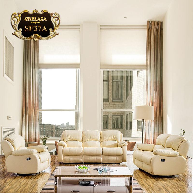 Đơn giản và hài hòa là những đặc điểm chính của sofa da hiện đại