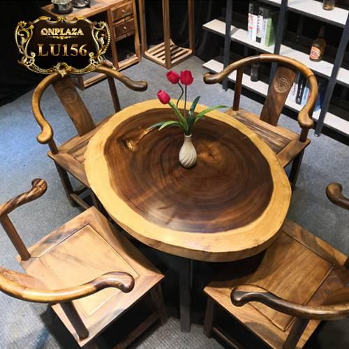 Bộ bàn trà gỗ cẩm thị cao cấp phong cách truyền thống LU156