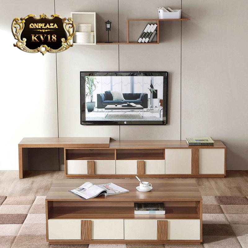 Bộ bàn trà + kệ tivi phong cách châu âu hiện đại cao cấp KV18