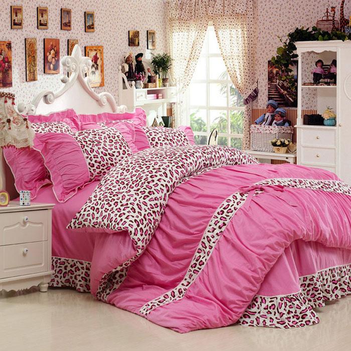 Bộ sản phẩm chăn ga Màu Hồng CG064 họa tiết đốm hồng