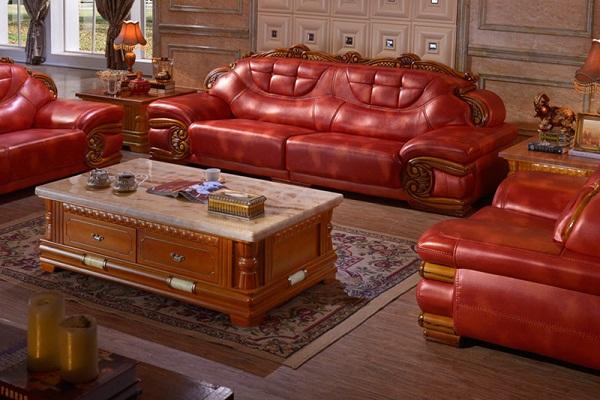 Chọn ghế sofa da tân cổ điển cho phòng khách hiện đại