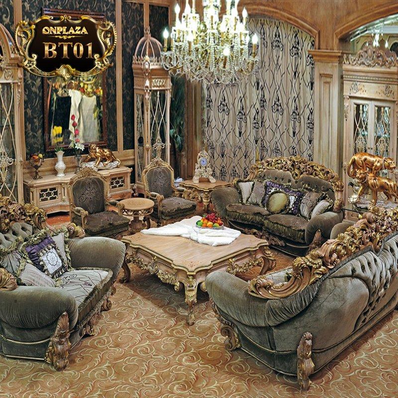 Mẫu ghế sofa cổ điển nhập khẩu cao cấp