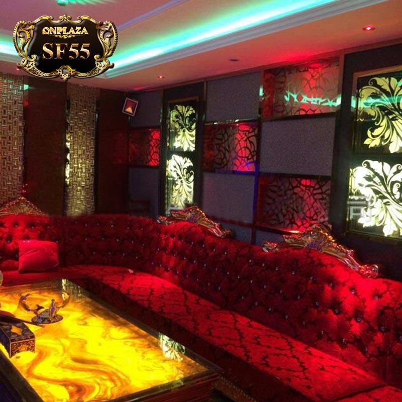 Bộ ghế sofa phòng hát (hội nghị) cao cấp tân cổ điển SF55