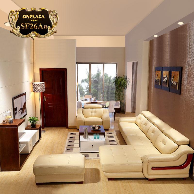 Bộ ghế sofa văng chữ L góc trái sang trọng SF26 màu kem; Giá: 38.332.000 VNĐ
