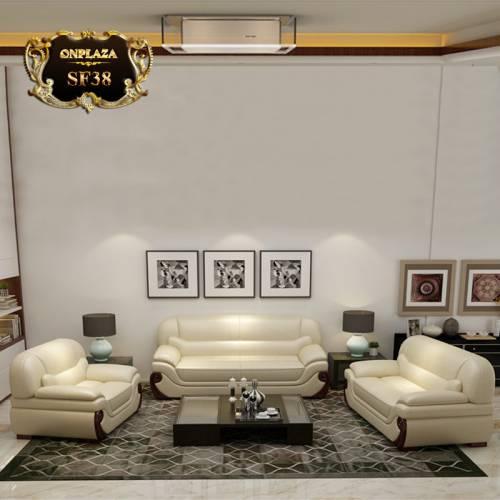 Bộ ghế sofa đẹp nhập khẩu cao cấp sắc kem trang nhã SF38