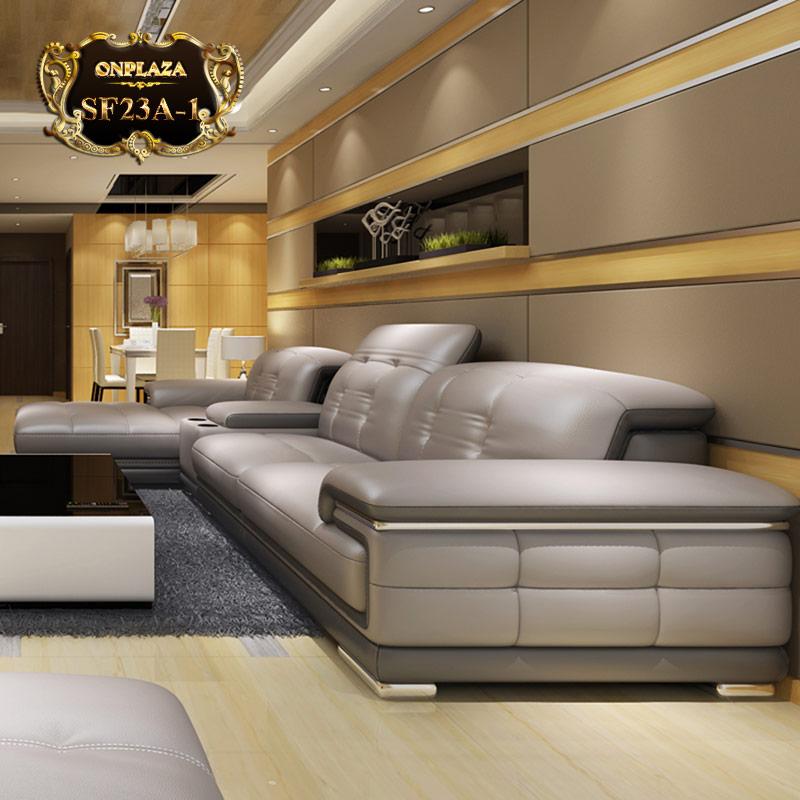 Bộ ghế sofa đa năng hiện đại nhập khẩu châu Âu cao cấp SF23A-1 màu xám