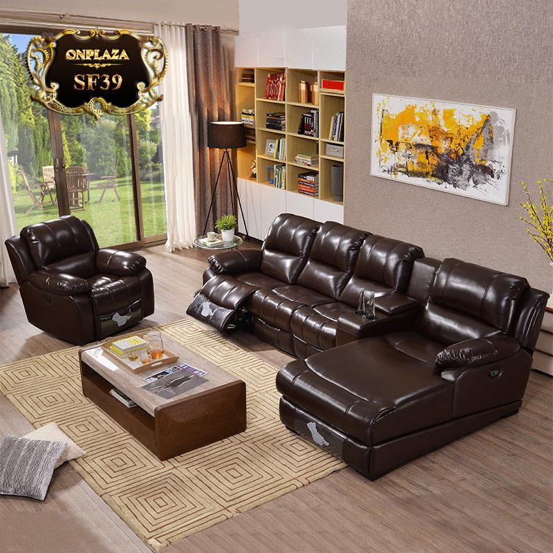 Bộ ghế sofa đa năng tích hợp cổng sạc usb cao cấp SF39