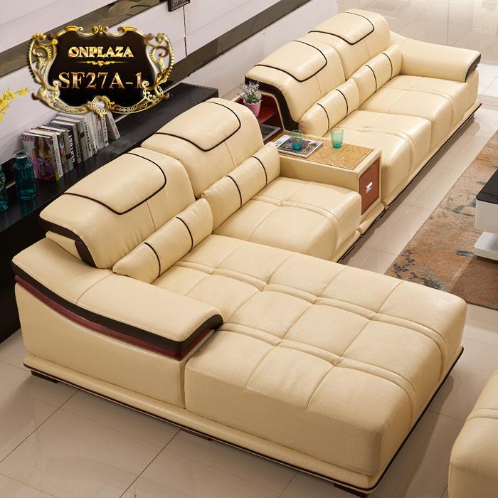 Bộ ghế sofa da cao cấp phong cách sang trọng SF27A-1