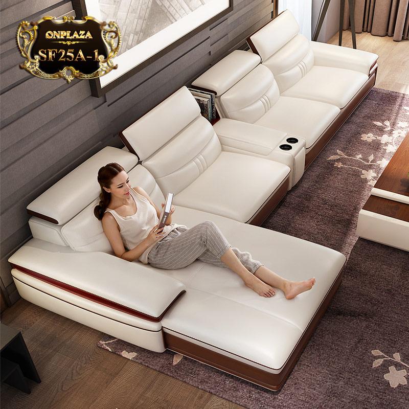 Mẫu sofa da thể hiện sự tinh tế, sang trọng và đẳng cấp SF25; Giá: 29.460.000 VNĐ