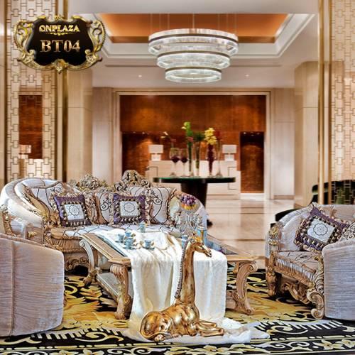 Bộ ghế sofa cổ điển phong cách hoàng gia cao cấp BT04