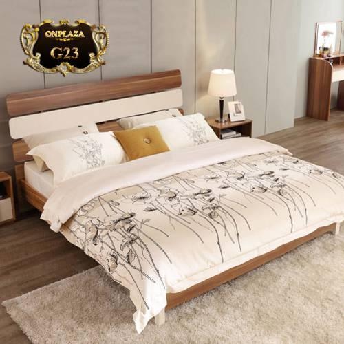Bộ giường gỗ hiện đại + 2 Tab giường cao cấp G23