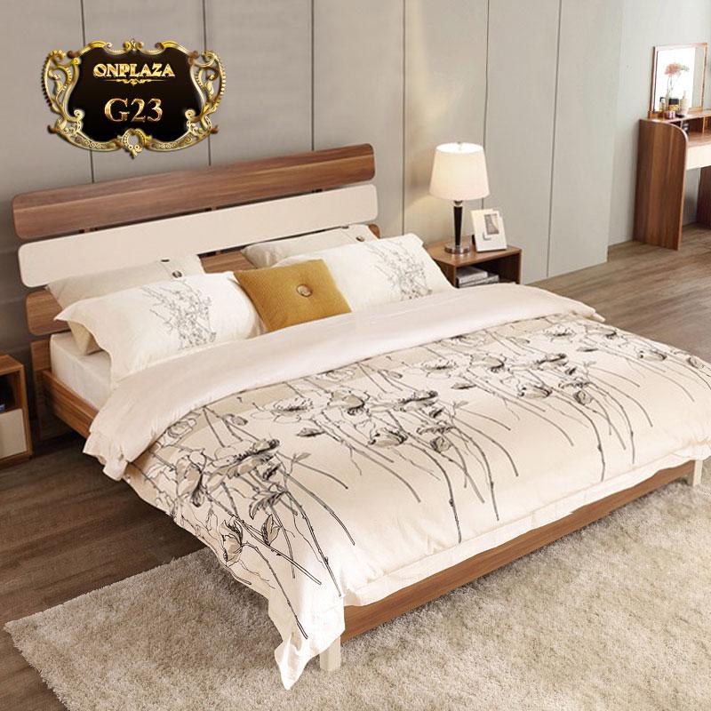 Giường ngủ kiểu Nhật thường có dáng bệt thấp sàn