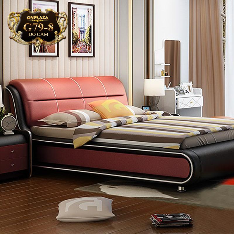 Giường ngủ bọc nệm da cao cấp