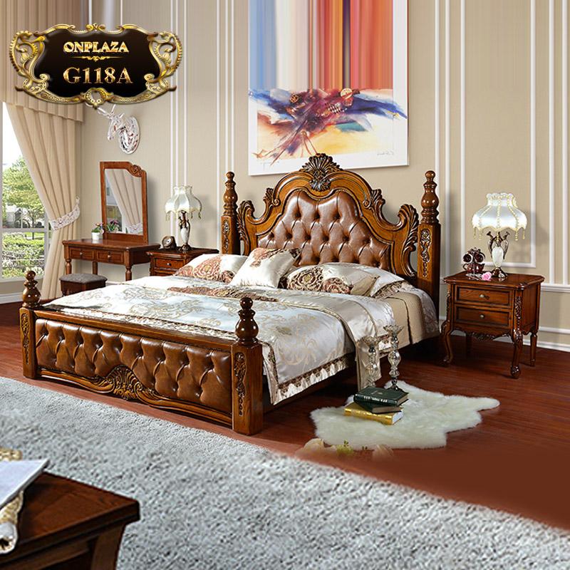 Bộ giường ngủ sang trọng Châu Âu dòng nhập khẩu G118A