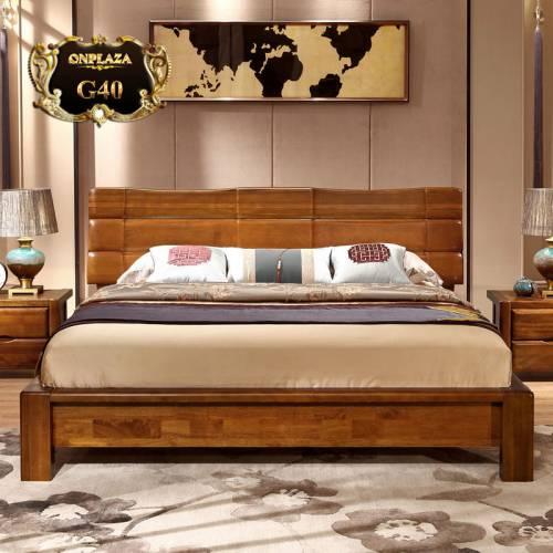 Bộ giường ngủ hiện đại + một tab đầu giường cao cấp G40