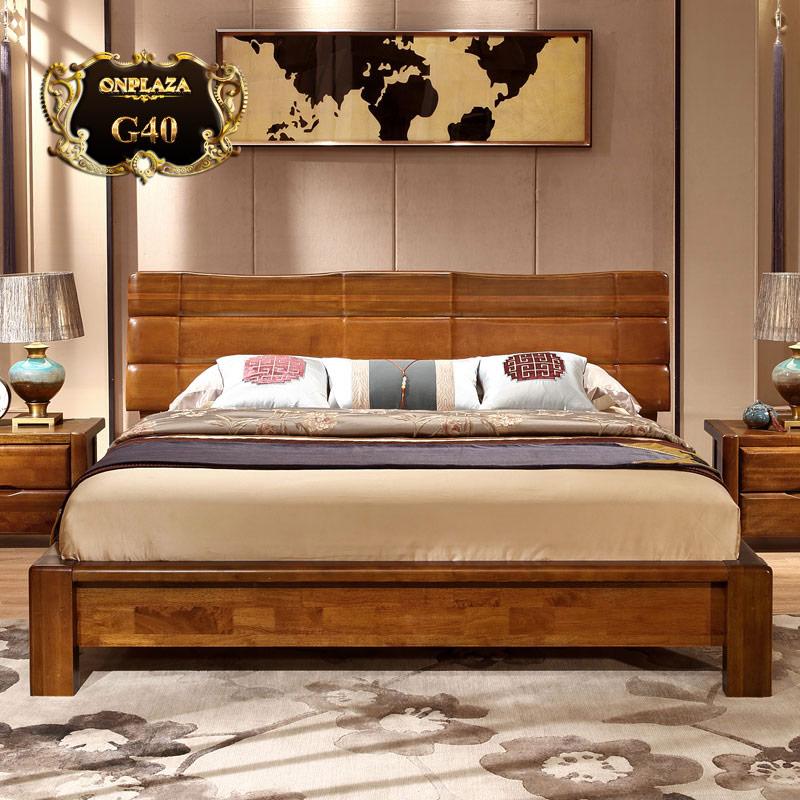 Đẹp lung linh cùng sang trọng với mẫu giường ngủ gỗ xoan đào