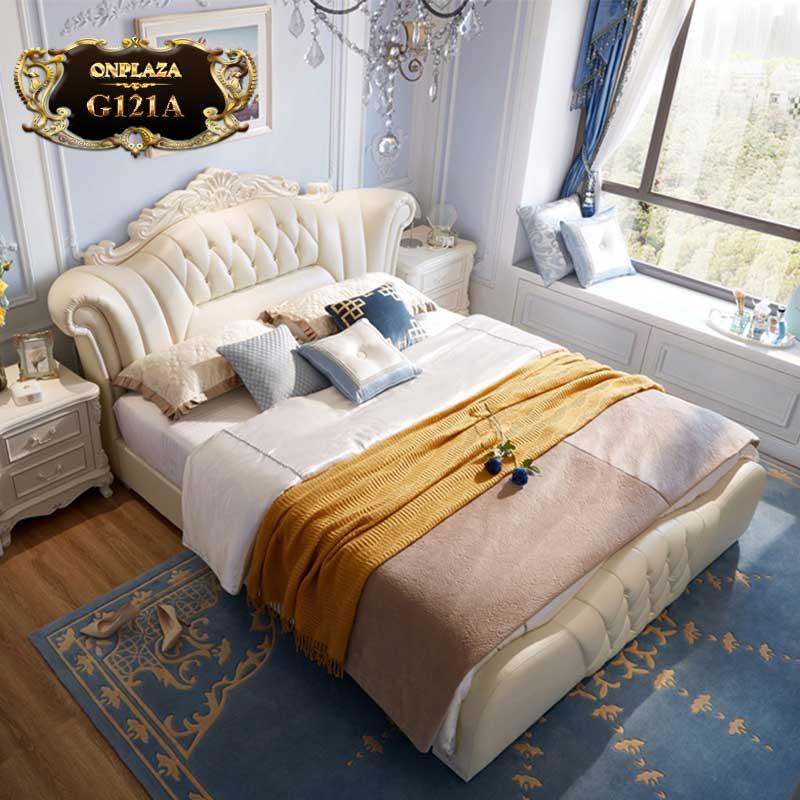Bộ giường ngủ nhập khẩu phong cách Châu Âu trang nhã G121A