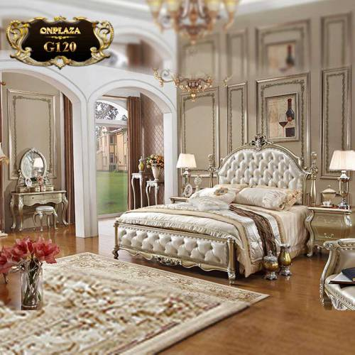 Bộ giường ngủ phong cách tân cổ điển Pháp G120A