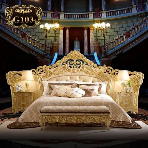 Bộ giường ngủ gỗ tân cổ điển G103