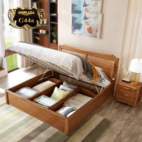 Bộ giường ngủ gấp có ngăn chứa đồ + 1 tab đầu giường cao cấp G44