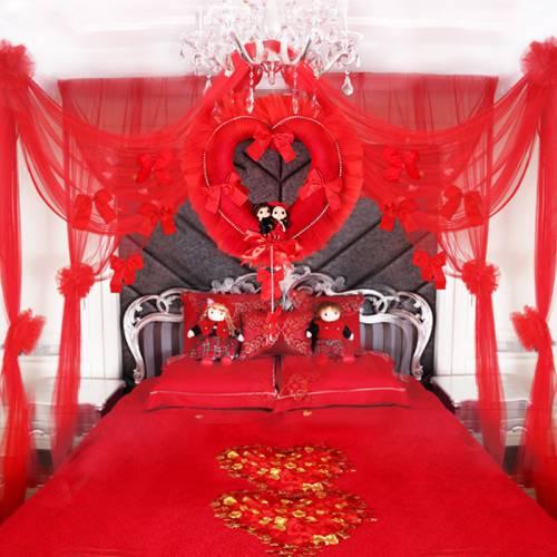 Bộ Màn Khung Hàn Quốc Cao Cấp Màu Đỏ MK015