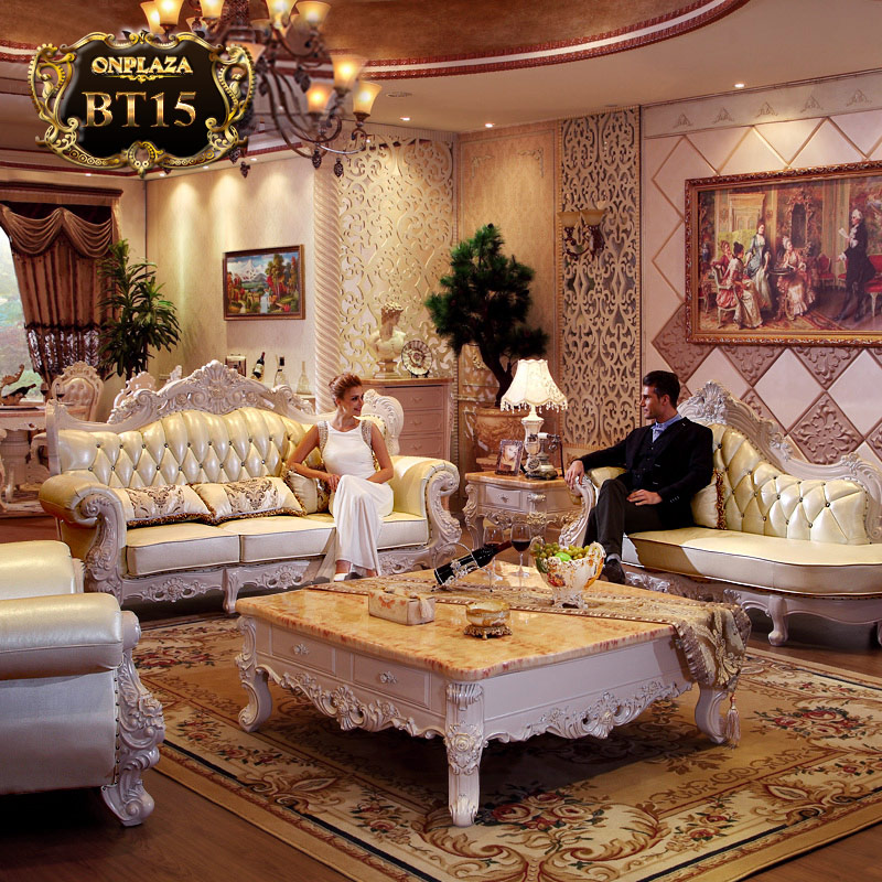 Bộ sưu tập ghế sofa cổ điển châu âu BT15 công nghệ italya