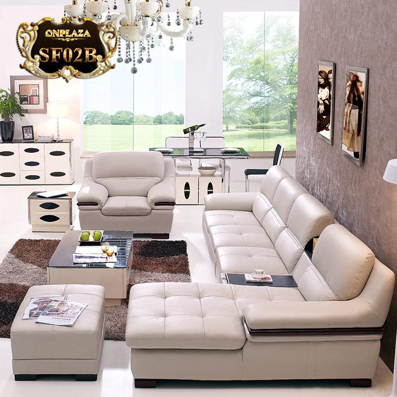 Bộ bàn ghế phòng khách đẹp SF02B màu trắng