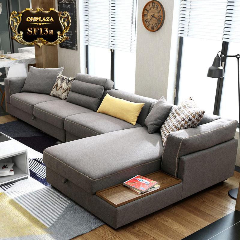 Bộ sofa phòng khách đa năng sắc xám thời thượng SF13