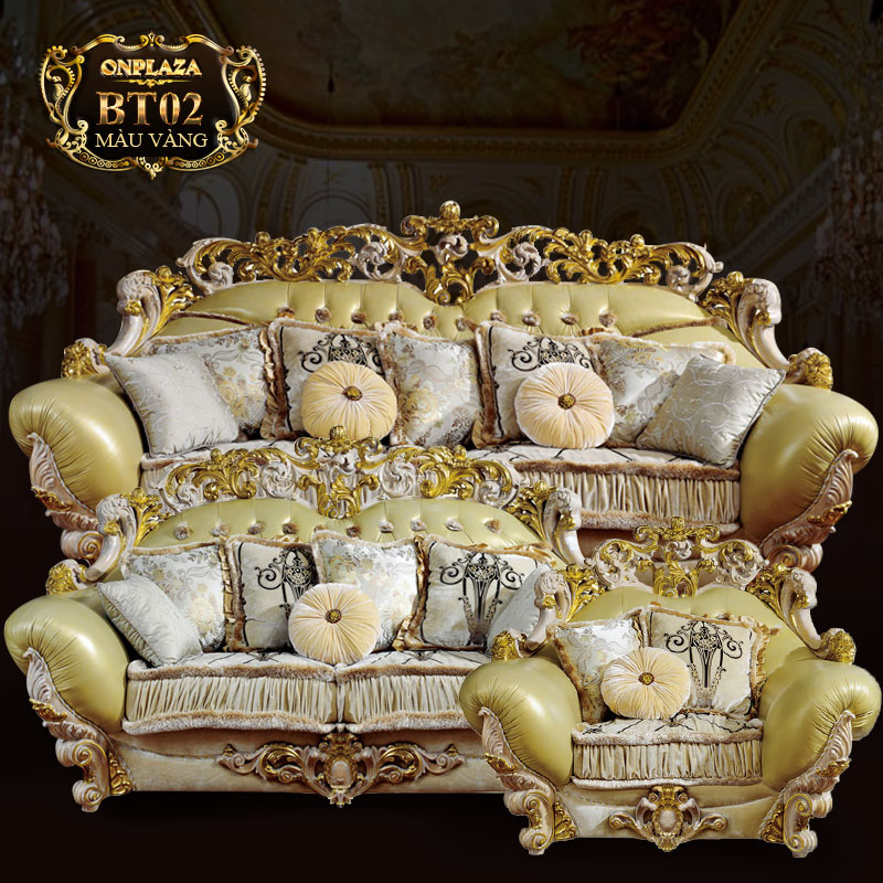 Bộ sofa cổ điển phong cách hoàng gia sang trọng PN40