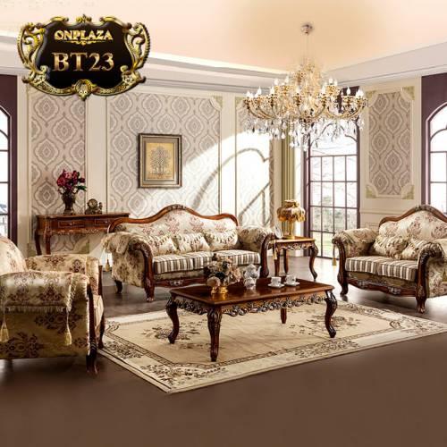 Bộ sưu tập bàn ghế họa tiết hoa tân cổ điển trang nhã BT23