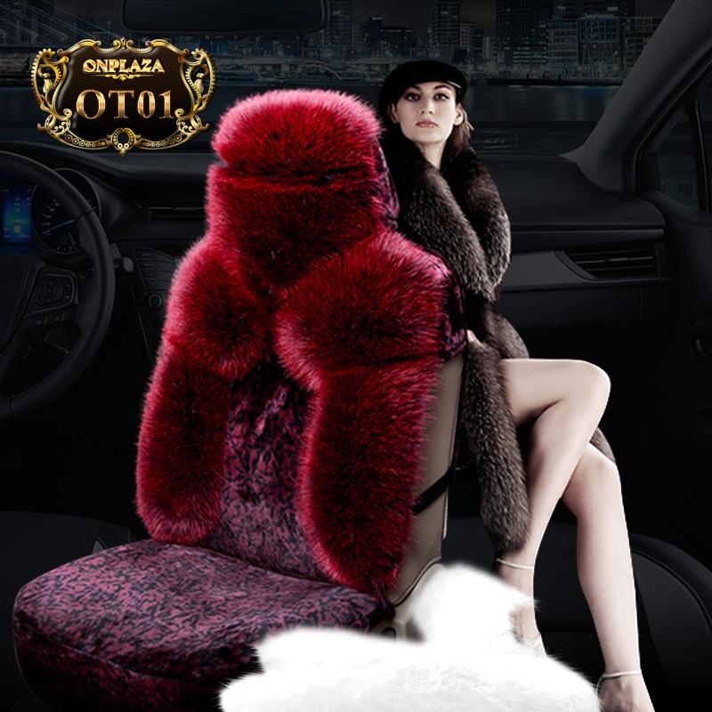 Bọc ghế lông cừu xe hơi OT01 (Màu đỏ)