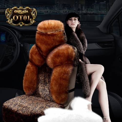 Bọc ghế lông cừu 100% nhập khẩu cao cấp cho ô tô OT01 (Màu nâu)