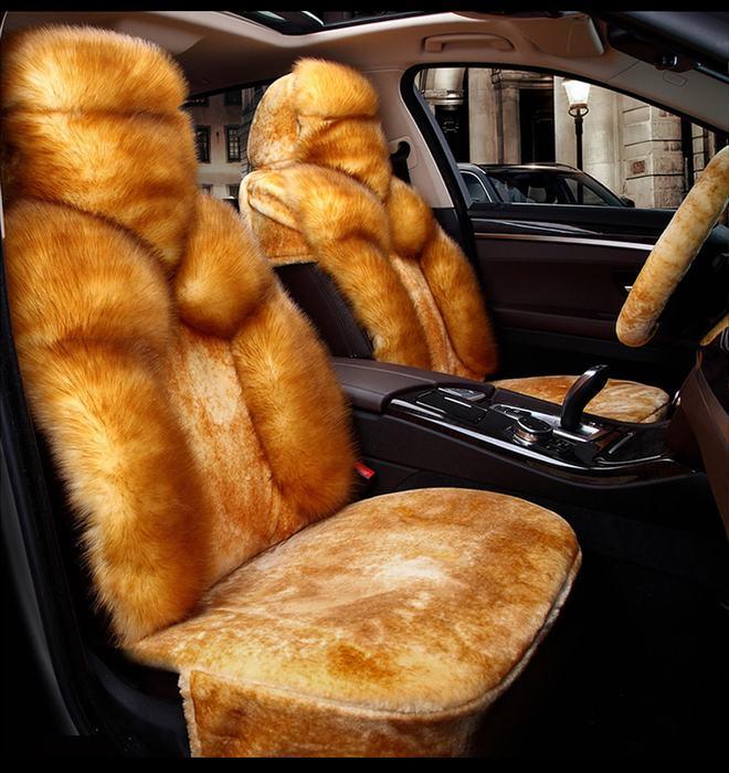 Bọc đệm ghế lông thú cao cấp cho ô tô