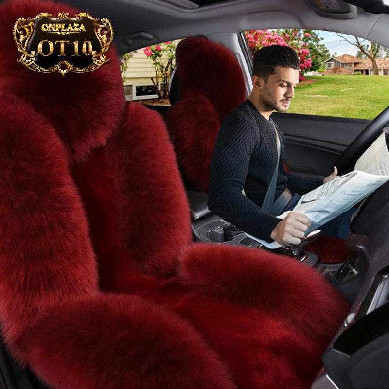 Bọc ghế lông cừu OT10 (Màu đỏ)