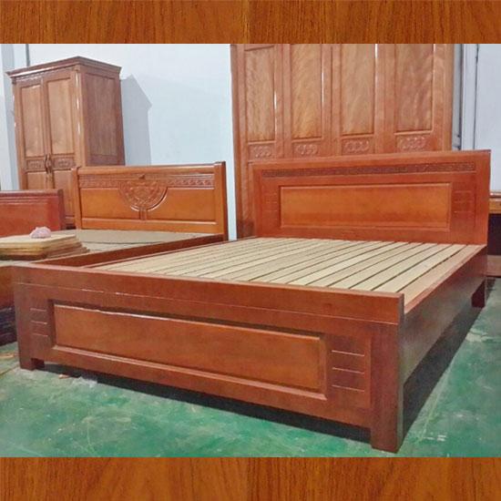 Các mẫu giường ngủ bằng gỗ xoan đào