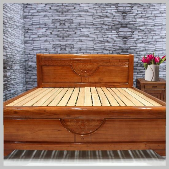Giường ngủ bằng gỗ xoan đào đẹp sang trọng
