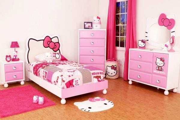 mẫu giường ngủ cho bé đẹp hello kitty