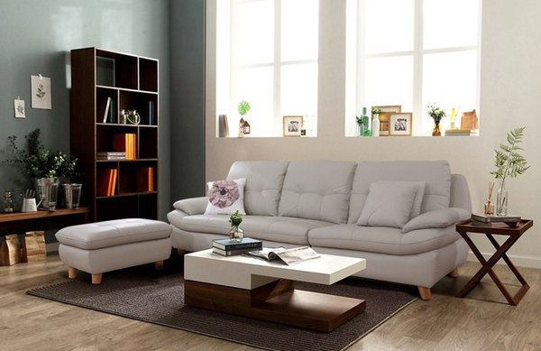 Nên kê bàn ghế sofa sát vào tường để tạo điểm tựa chắc chắn